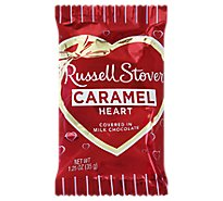 Russell Stover Milk Chocolate Caramel Heart Bar - 1.25 Oz