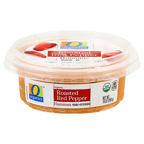 O Organics Organic Hummus Roasted Red Pepper - 10 Oz