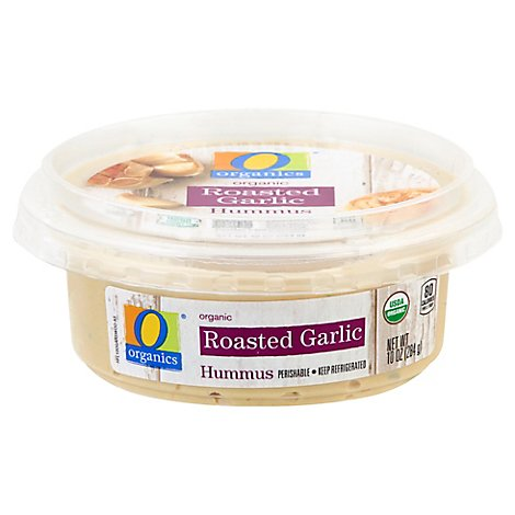 O Organic Roasted Garlic Hummus - 10 Oz.