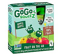 GoGo squeeZ Applesauce Apple Apple - 4-3.2 Oz