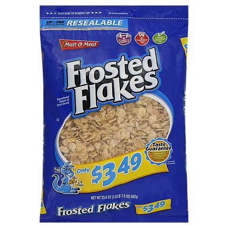 Malt-O-Meal Cereal Frosted Flakes - 23 Oz