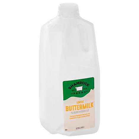 Shamrock Farms Buttermilk 1% Low Fat - 1 Half Gallon