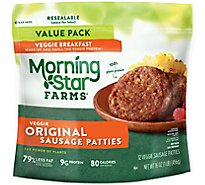 MorningStar Farms Veggie Breakfast Sausage Patties Original Value Pack - 16 Oz