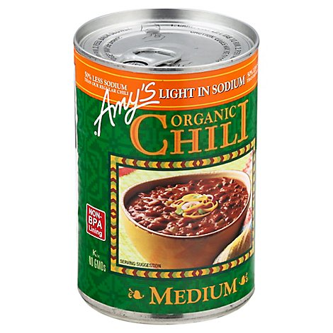 Amys Chili Organic Medium Light in Sodium - 14.7 Oz