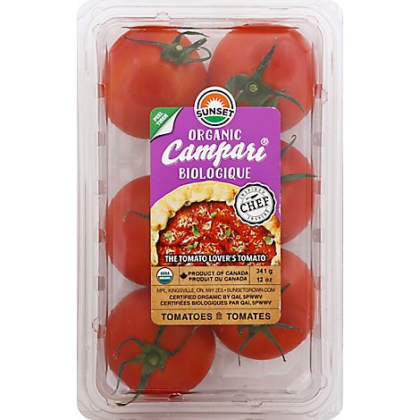 Sunset Tomatoes Campari Organic - 12 Oz