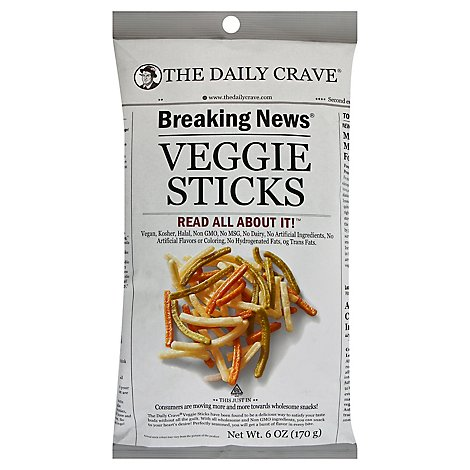 The Daily Crave Veggie Sticks - 6 Oz