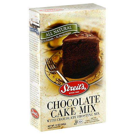 Streits All Natural Cake Mix Chocolate - 12 Oz