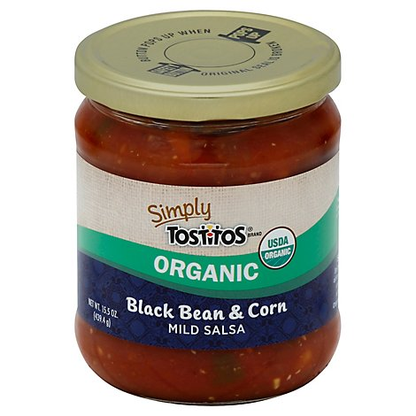 Simply Tostitos Salsa Organic Mild Black Bean & Corn - 15.5 Oz