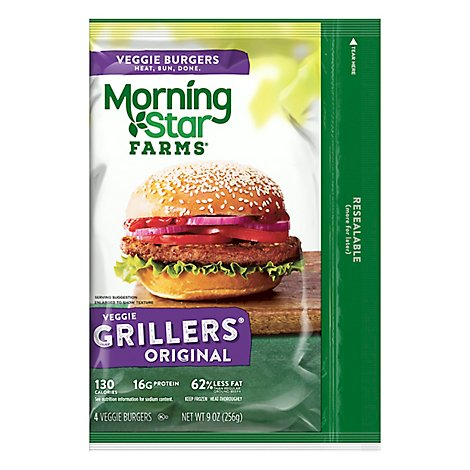 MorningStar Farms Veggie Burgers Grillers Original 4 Count - 9 Oz