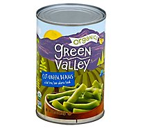 Green Valley Organic Green Beans Cut - 14.5 Oz