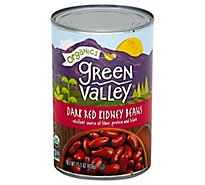 Green Valley Organics Beans Kidney Dark Red Can - 15.5 Oz