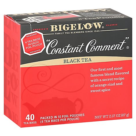 Bigelow Constant Comment Black Tea - 40 Count