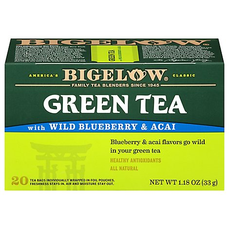 Bigelow Green Tea with Wild Blueberry & Acai - 20 Count