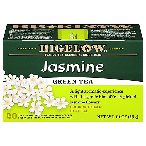 Bigelow Green Tea Bags Jasmine 20 Count - 0.91 Oz