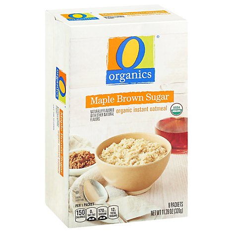 O Organics Organic Oatmeal Instant Maple Brown Sugar - 8-1.41 Oz