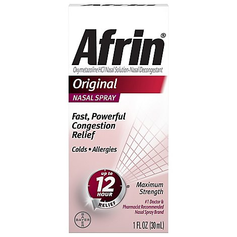 Afrin Nasal Spray Maximum Strength Original - 1 Fl. Oz.