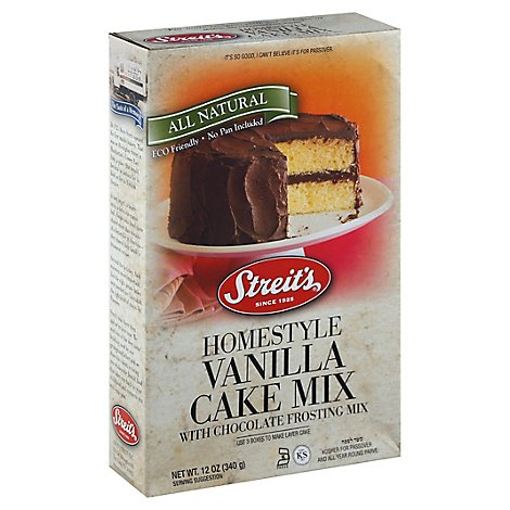 Streits Yellow Cake With Chocolate Frosting - 12 Oz