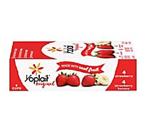 Yoplait Original Yogurt Low Fat Strawberry/Strawberry Banana - 8-6 Oz