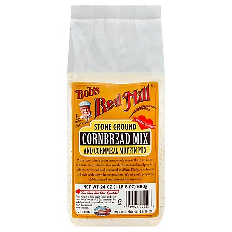 Bobs Red Mill Cornbread Mix Stone Ground - 24 Oz