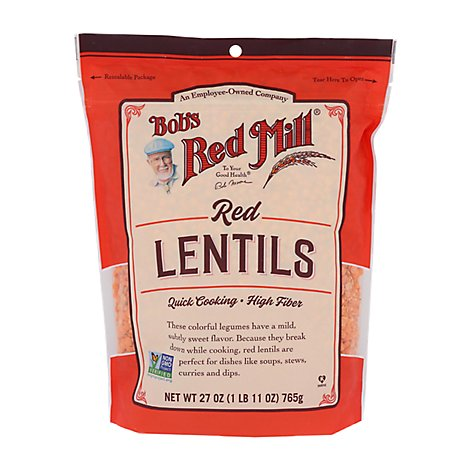 Bobs Red Mill Lentils Red - 27 Oz