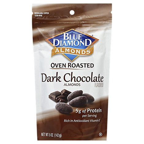 Blue Diamond Almonds Oven Roasted Dark Chocolate - 5 Oz