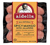 Aidells Smoked Chicken Sausage Links Spicy Mango with Jalapeno 4 Count - 12 Oz