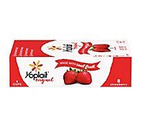 Yoplait Original Yogurt Low Fat Strawberry - 8-6 Oz