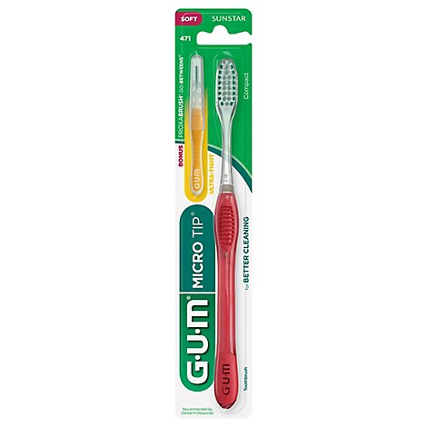 GUM Toothbrush Micro Tip Compact Soft 417 - 1 Count
