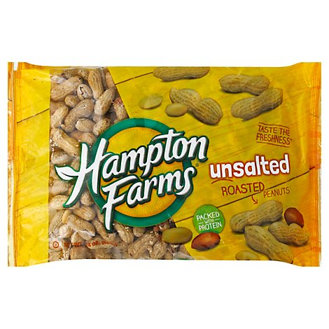Hampton Farms Fancy Unsalted Peanuts - 24 Oz