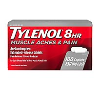TYLENOL Pain Reliever/Fever Reducer Caplets 8 HR Muscle Aches & Pain 650 mg - 100 Count
