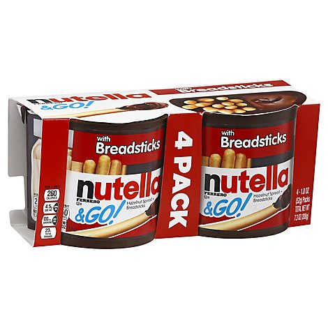 Nutella & Go! Spread Hazelnut with Breadsticks - 4-1.8 Oz