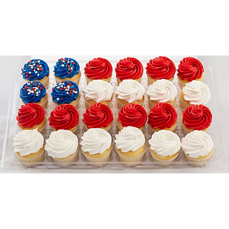 Cupcake Mini Gold Patriotic 12 Count - Each