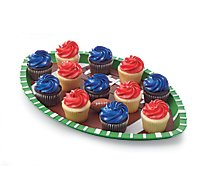 Cupcake Mini Chocolate Patriotic 12 Count - Each