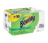 Bounty Paper Towels Full Sheet Big Rolls 2-Ply White Wrapper - 12 Roll