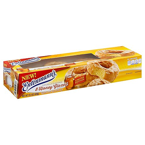 Entenmanns Donuts Honey Glazed - 8 Count