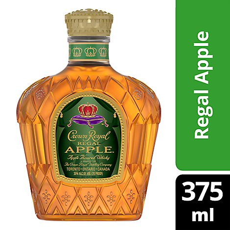 Crown Royal Whisky Flavored Regal Apple 70 Proof - 375 Ml