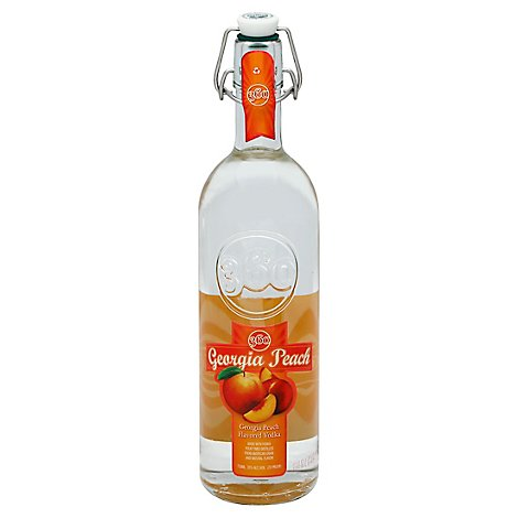 360 Georgia Peach Vodka 70 Proof - 750 Ml