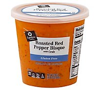 Signature Cafe Soup Roasted Red Pepper And Crab - 24 Oz