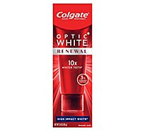 Colgate Optic White Renewal Toothpaste Anticavity Fluoride High Impact White - 3 Oz
