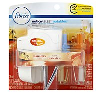 Febreze NOTICEables Scented Oil Refill + Oil Warmer Hawaiian Aloha - 0.87 Fl. Oz.