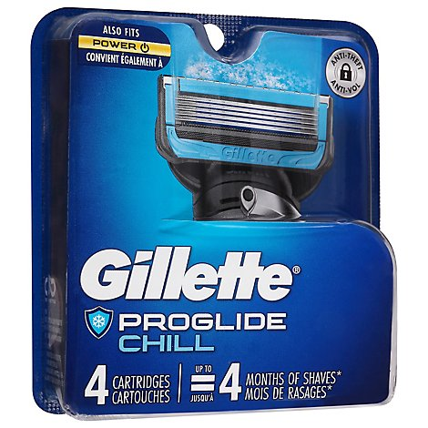 Gillette Fusion Proshield Chill Cartridge - 4 Count