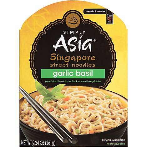 Simply Asia Singapore Street Noodles Garlic Basil - 9.24 Oz