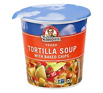 Dr. McDougalls Soup Gluten Free Vegan Tortilla With Baked Chips Fresh Flavor - 2 Oz