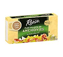 Reese Anchovies Flat Fillets in Pure Olive Oil - 2 Oz