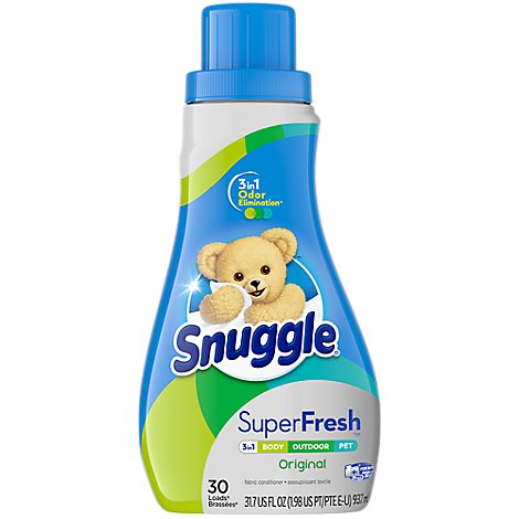 Snuggle Super Fresh Fabric Softener Plus Every Fresh Scent Bottle - 31.7 Fl. Oz.