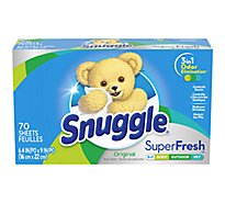 Snuggle Super Fresh Fabric Softener Sheets Plus Every Fresh Scent Box - 70 Count