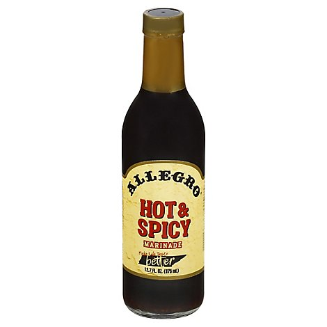 ALLEGRO Marinade Hot & Spicy - 12.7 Fl. Oz.