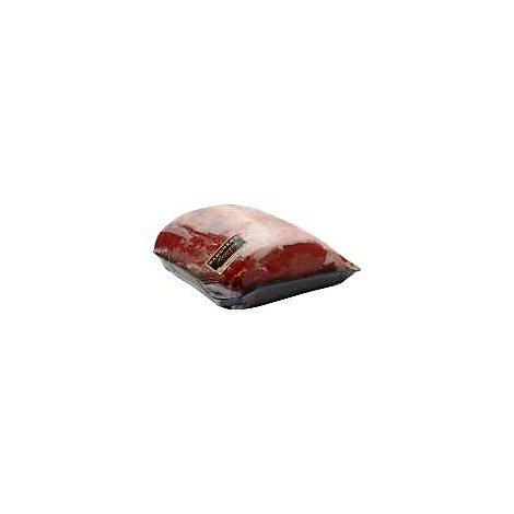 Meat Counter Beef USDA Choice Ribeye Roast Bone In In Roasting Pan Seasoned - 1.50 LB