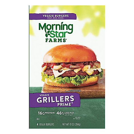 MorningStar Farms Veggie Burgers Grillers Prime 4Ct 10oz