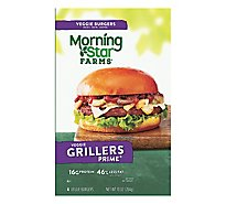MorningStar Farms Veggie Burgers Grillers Prime - 10 Oz